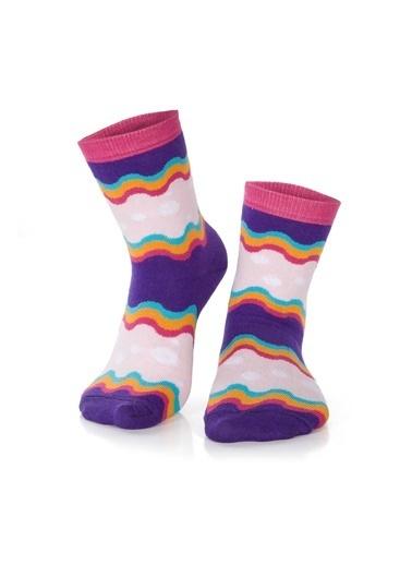 Miorre 3'lü  Kadın Soket Çorap Renkli